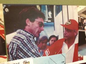 Ayrton Senna & Nicki Lauda tras la muerte de Roland Ratzenberger.